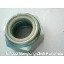Porcas de fechamento de nylon do aço DIN985stainless para a indústria