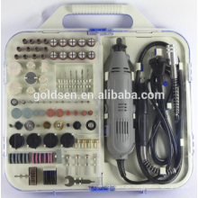 163pcs 135W beweglicher Hobby-Drehwerkzeug-Installationssatz-Zusatz mit Flex-Schaft-Handschleifen-elektrischer Minifräsersatz