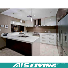 U-Shape Double Colour Kitchen Cabinet for Project (AIS-K255)