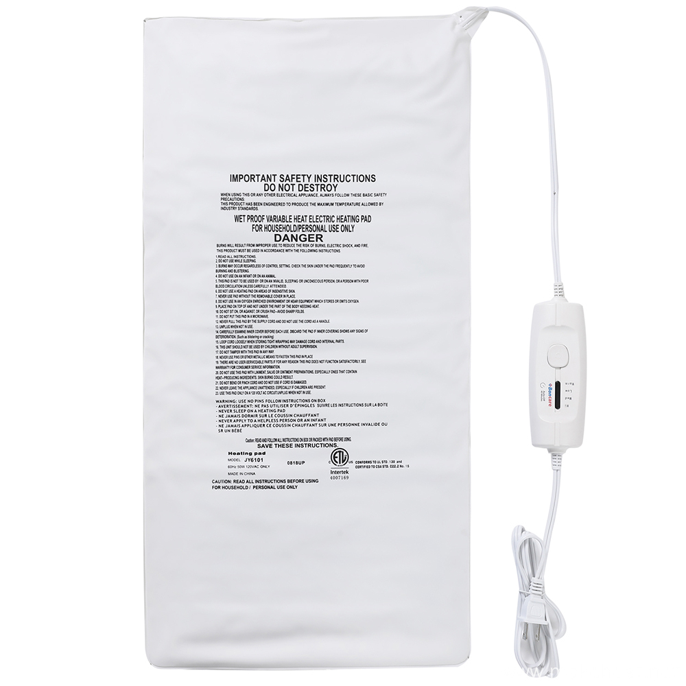 ETL Approved  King Size Heating Pad With Auto Off Feature