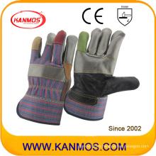 7 colores de piel de vaca seguridad muebles industriales guantes de trabajo de cuero (310013)
