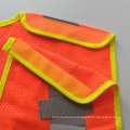 Fluorescent orange 5 point breakaway mesh reflective safety vest with pockets