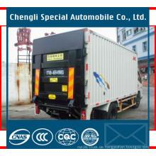 4X2 17m3 Kasten Van Cargo Truck mit hydraulischer Ladebordwand