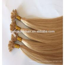 2017 100% Индийский Человеческих Волос Двухместный Нарисованные Толстым Концом Кератин Клей Плоским Наконечником Наращивание Волос