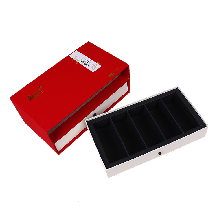 cosmetic cardboard gift box with two drawers
