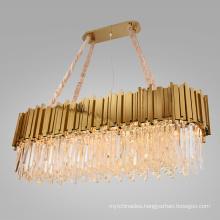 Wholesale luxury K9 crystal hanging pendant lamps modern led gold big chandelier pendant lighting