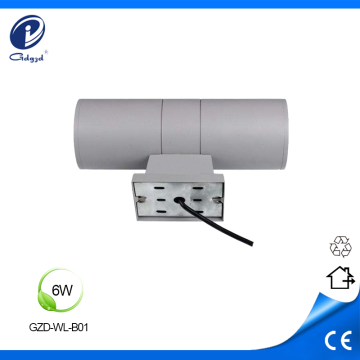 6W IP65 luces de pared laterales dobles impermeables led