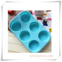 16 Cavity Oval Silikonform für Seife, Kuchen, Cupcake, Brownieand Mehr (HA36018)