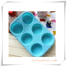 16 Cavity Oval Silicone Mold for Soap, Cake, Cupcake, Brownieand More (HA36018)