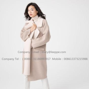 Reversibel Cashmere Coat Of Pager Suri Alpaca Women