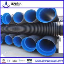 Tubo corrugado de pared doble de HDPE para drenaje