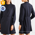 Printed Long Sleeve Navy And White Mini Summer Dress Manufacture Wholesale Fashion Women Apparel (TA0291D)