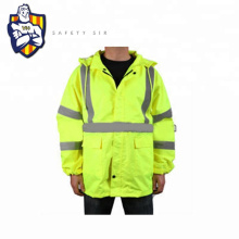 CE EN20471 ANSI winter reflective safety jacket, 300D water proof fabric and Zip fasten