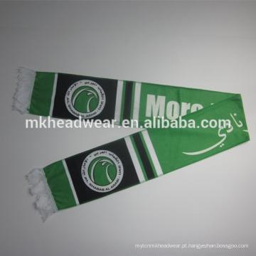 Novelty poliéster tecido tecido lenço de futebol