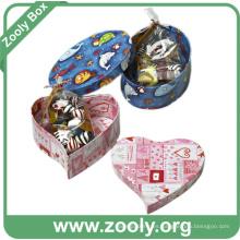Caja de recuerdo de papel de cartón en forma de corazón (zc005)