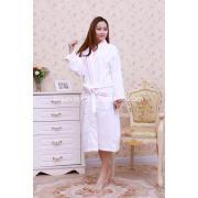 100% cotton terry velour bathrobe with embroidery