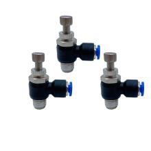 Conector de válvula pneumática tipo SL de encaixe de plástico