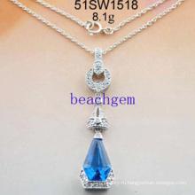 Серебряный кубический цирконий ожерелье ювелирные изделия (51SW1518)
