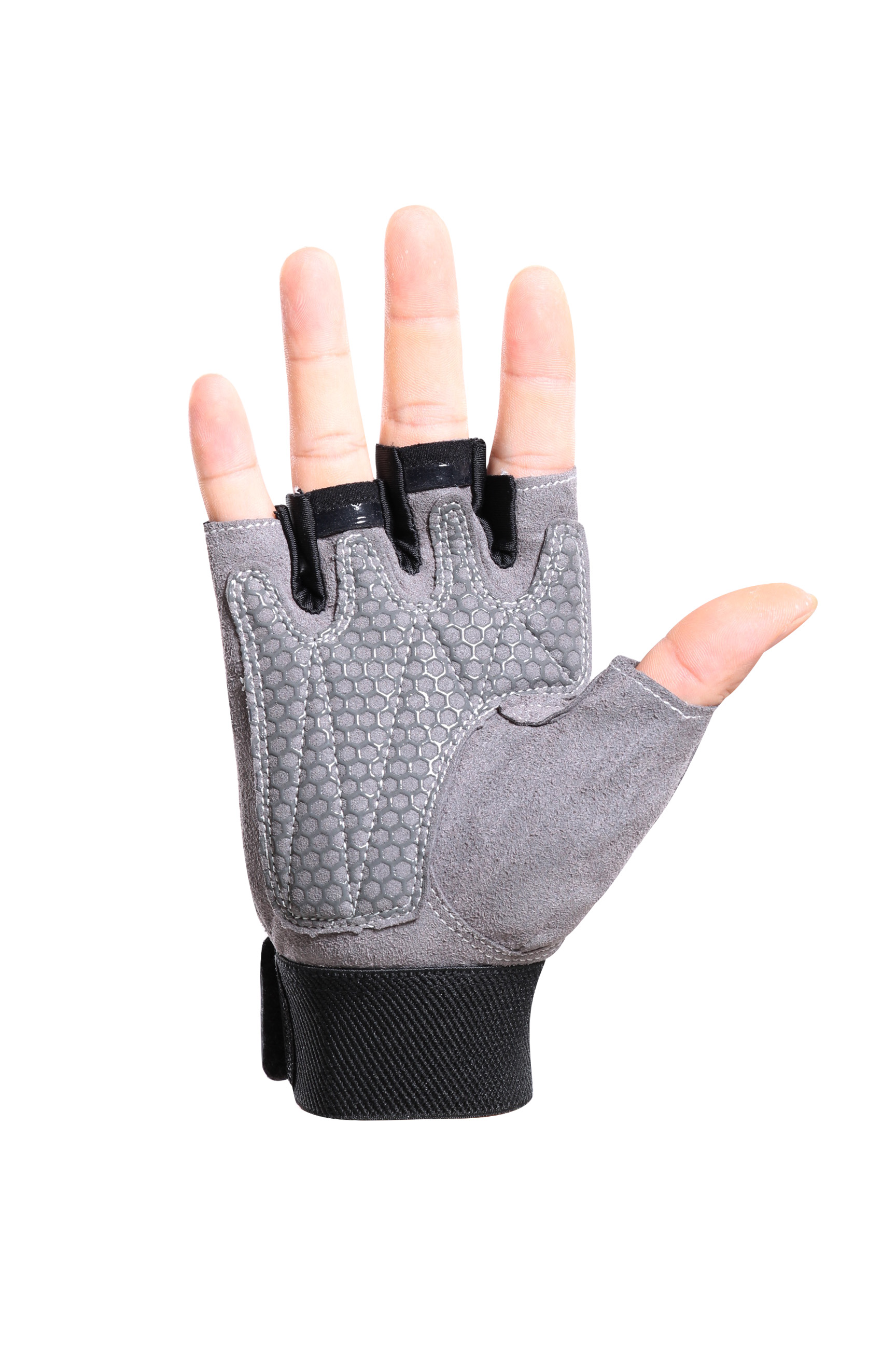 Half finger gloves with buckle