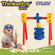 Brinquedo de blocos criativos de construção para a educação pré-escolar