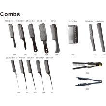DIY plástico peine U forma de carbón cepillo de pelo