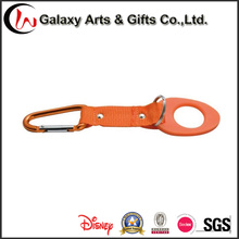 Screen Printing Rubber Bottle Holder Keychain Short Lanyard