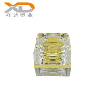 15g 30g 50g Gold UV painting square plastic container cosmetic acrylic luxury packaging cream jar