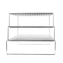 3-х слойная складная решетка для выпечки в микроволновой печи на открытом воздухе