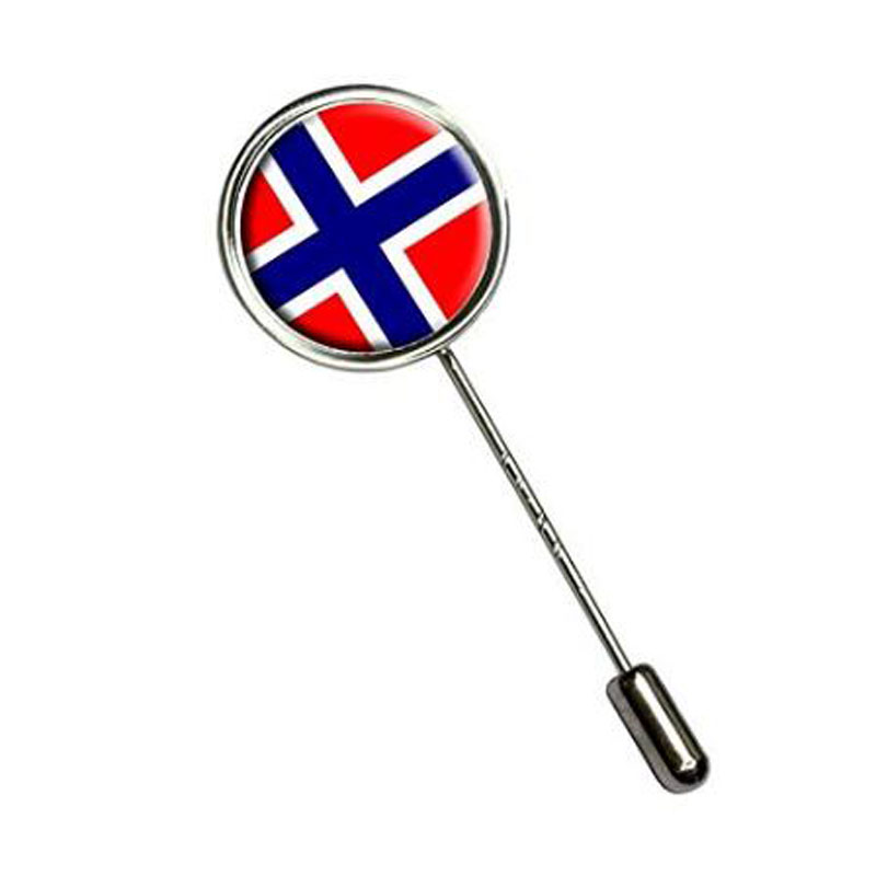 Norway Flag Stick Hat Brooch Pin