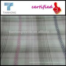 T-shirt tecidos do peso pesado de suave sensação de mão dupla camada xadrez tecido/algodão/fio tingido tecido Jacquard de algodão
