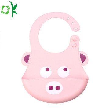FDA Cartoon Animal Silicone Slabbetje voor kinderen