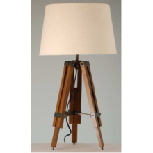 Fashion Wooden Tripod Living Room Table Lamp