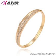 Élégant bracelet de bijoux en imitation or 18 carats avec diamant CZ 51290