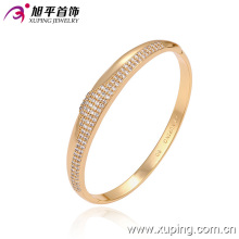 Fashion Elegant 18k Gold Imitation Jewelry Bangle with CZ Diamond 51290