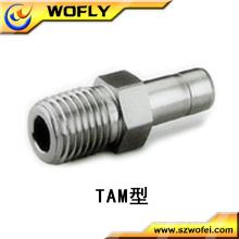 Rostfreier Stahl drehen Rohr zu Rohr männlichen Adapter