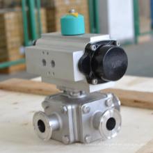 высокое качество ПОВ 3 способ все ПТФЭ мель пневматический шаровой клапан