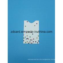 Aluminiumfolie Papier RFID Blocking Hülsenkarte
