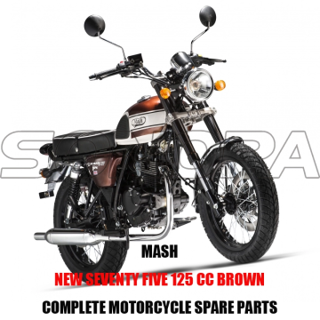 MASH+NEW+SEVENTY+FIVE+125+CC+BROWN+BODY+KIT+ENGINE+PARTS+ORIGINAL+SPARE+PARTS