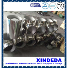 Pipe Fittings Stainless Steel Equal Tee Surface Polishing ANSI B16.9