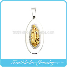 High Quality Casting Pendant Factory Price Wholesale Custom Metal Casting Gold Virgin Mary Stainless Steel Jewelry Pendant