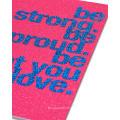 Rose rouge cartes de vœux Be You Anniversaire pour elle avec carte de papier de paillettes