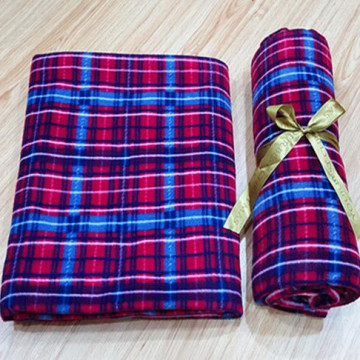 Fashion Plaid Print Polar Fleece Blanket