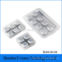 New Food Grade Healthy Metal Ice Cube Stainless Steel Whisky Stones