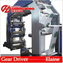 Máquina de impressão de filme plástico durável de 4 cores para tipografia