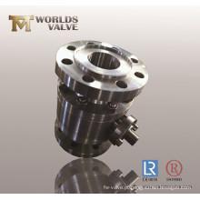 Válvula de esfera de aço inoxidável com conexão flangeada