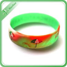 The Eco-Friendly Silicone Material Printed Technique Silicon Bracelet