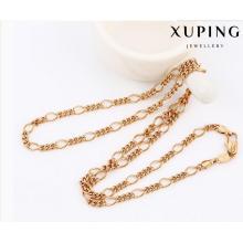 42899 Fashion Cool Rose aleación de oro de cobre Collar de cadena de la joyería de imitación