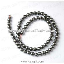 Perles rondes d'hématite magnétique en vrac de 5 mm 16 po