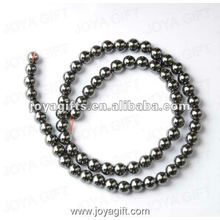 5MM Loose Magnetic Hematite Round Beads 16""