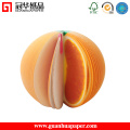 Cute Fruit Shaped Self-Adhesive Sticky Notes, Customized 3D Shaped Memo Pad